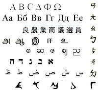 various alphabets