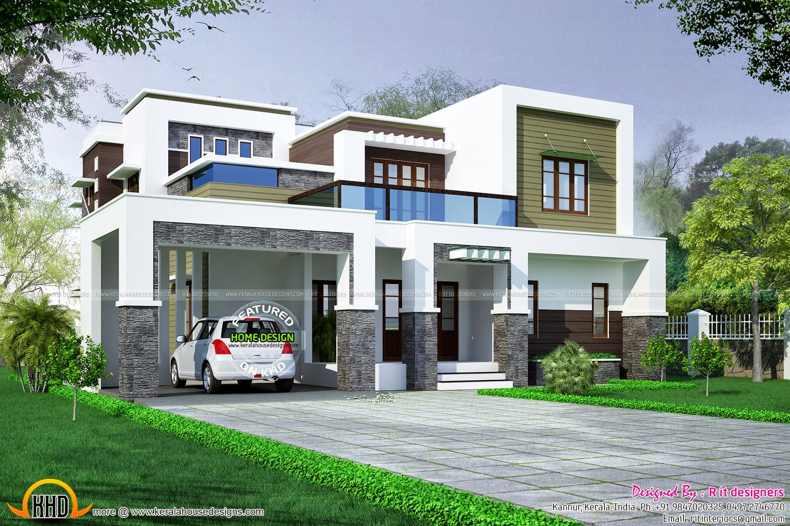 355 square meter house kerala home design and floor plans - House plans atticsquare meters ...