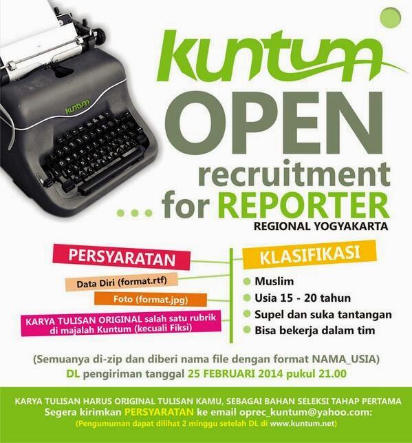 Majalah Pelajar Muhammadiyah KUNTUM Buka Lowongan Reporter