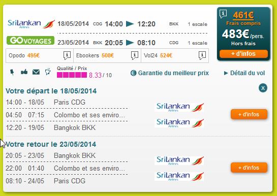 Sri Lankan Airlines Bangkok