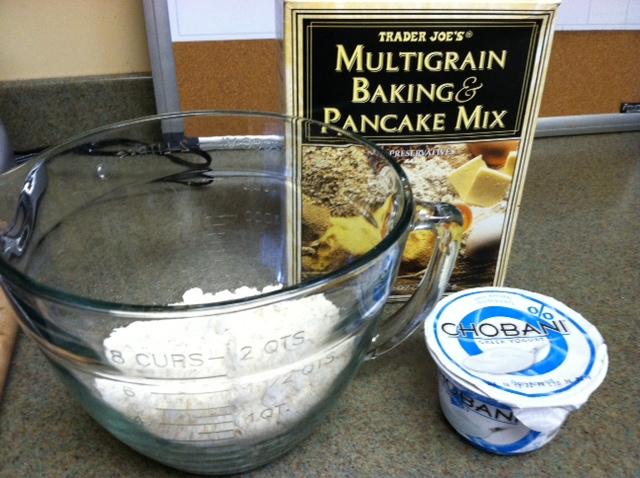Blueberry Yogurt Multigrain Pancakes Recipe — Dishmaps