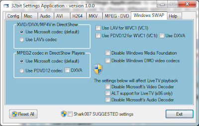 STANDARD Codecs for Windows 7 and 8