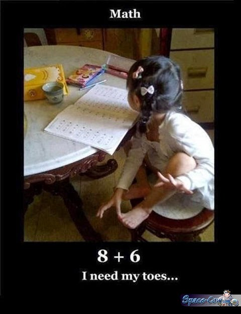 funny kids math picture