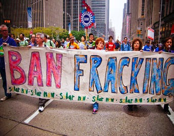 Anti-fracking activists at the People's Climate March in New York. (Credit: Light Brigading/Flickr) Click to Enlarge.
