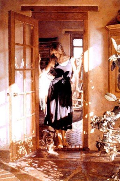 steve hanks pinturas hiper-realista mulheres misteriosas