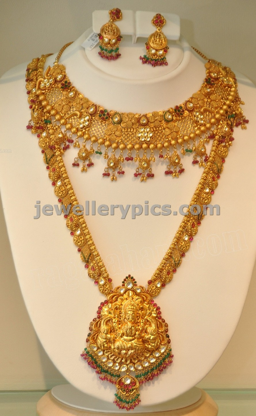 Khazana Gold Haram Long Necklace Designs Latest