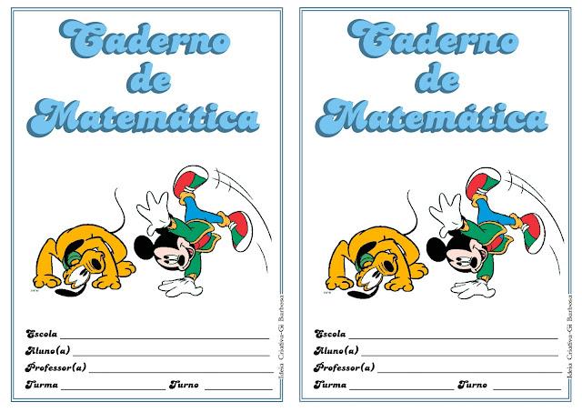 Capas de Caderno Mickey