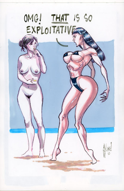 Drawings from MUSES A GOGO by Guillem March