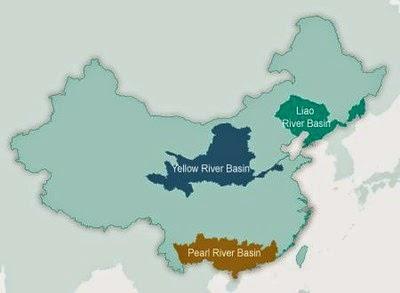 map of china river basins