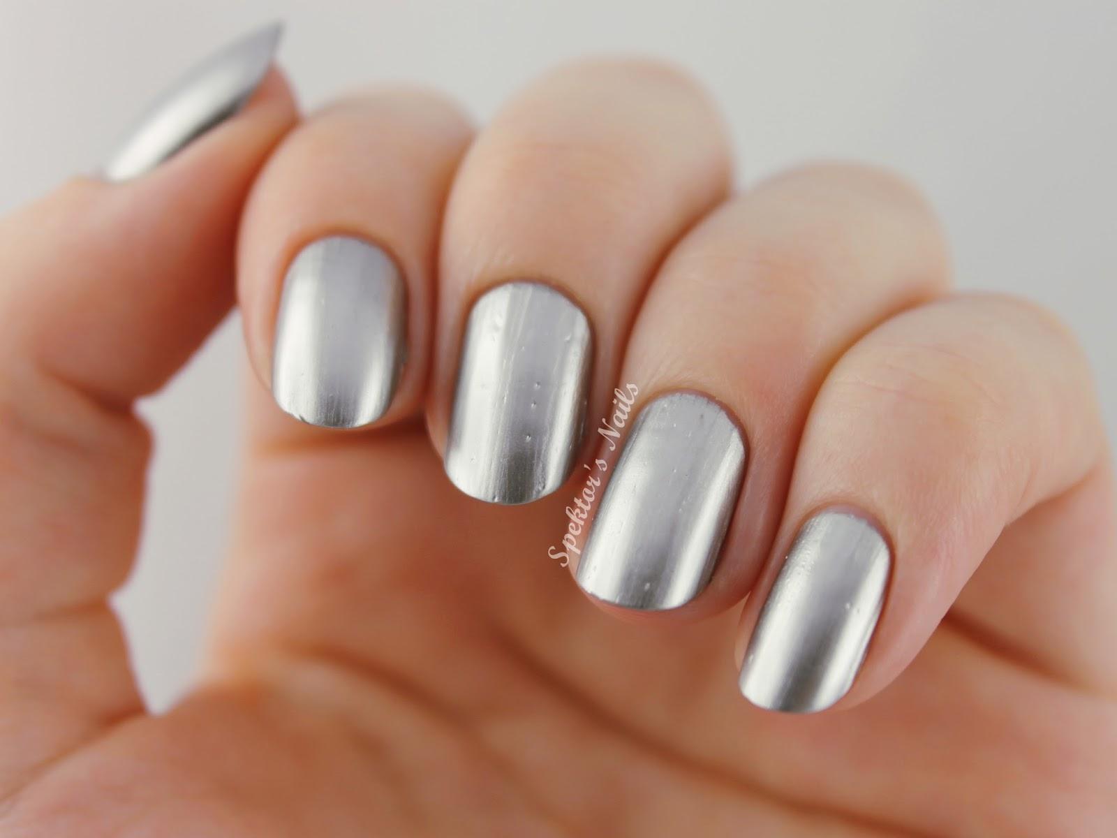 Дизайн ногтей хром фото
