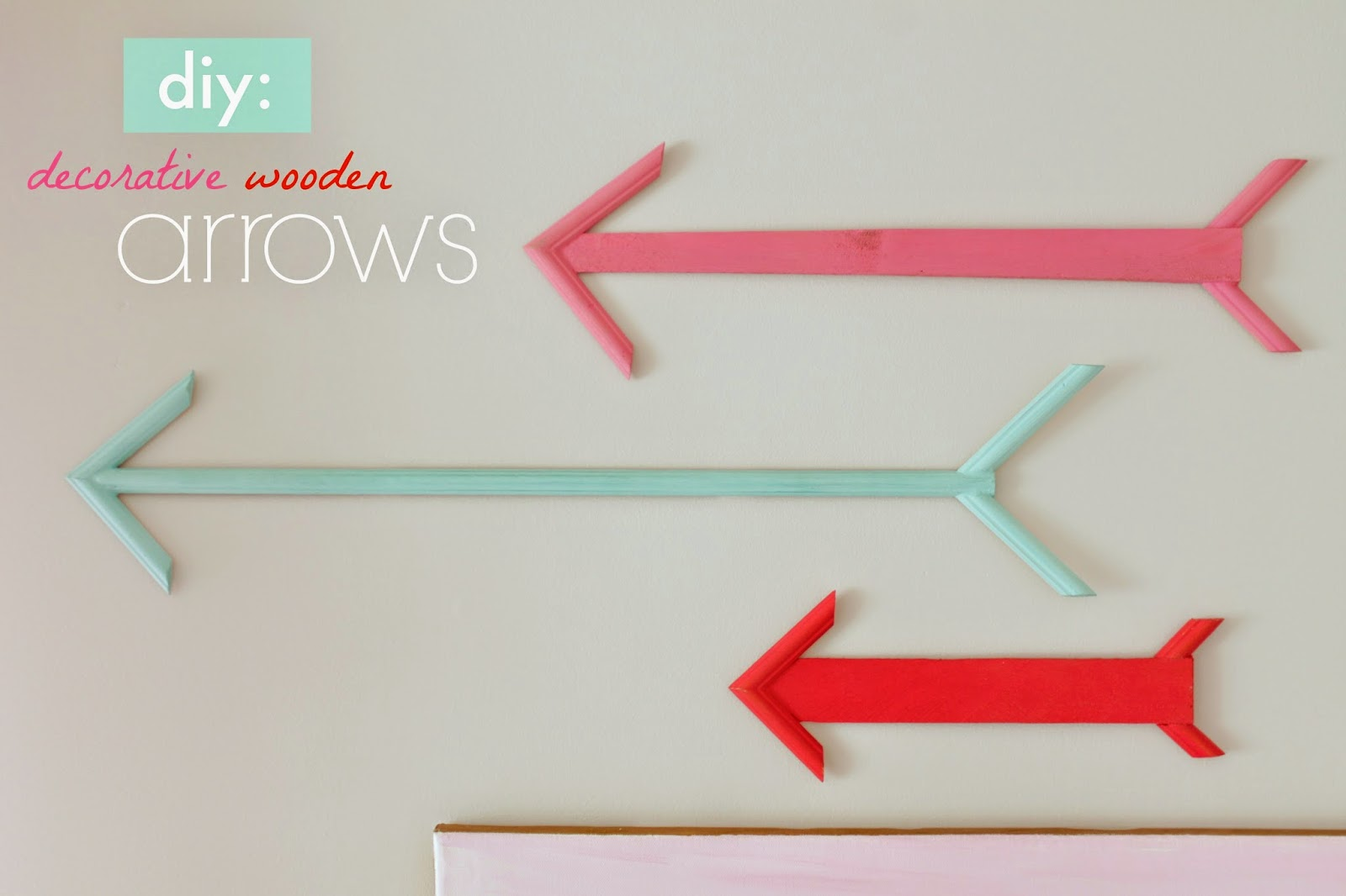 decorative wooden arrows