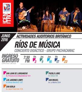 """JUNIO / TEMPORADA C.C. BRITANICO """"RIOS DE MUSICA"""" - 7:30 pm."""
