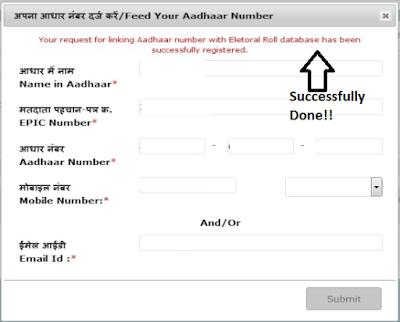 Voter ID Card & Aadhaar Card Link Up Process