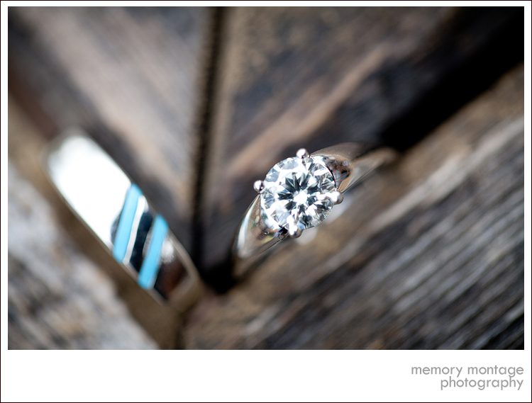 Suncadia Wedding Photo round solitaire diamond ring