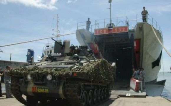 Latgab TNI 2012 : 2.296 Prajurit TNI Tiba Di Sangatta