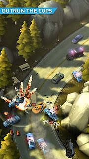 Screenshots of the Smash bandits racing for Android tablet, phone.