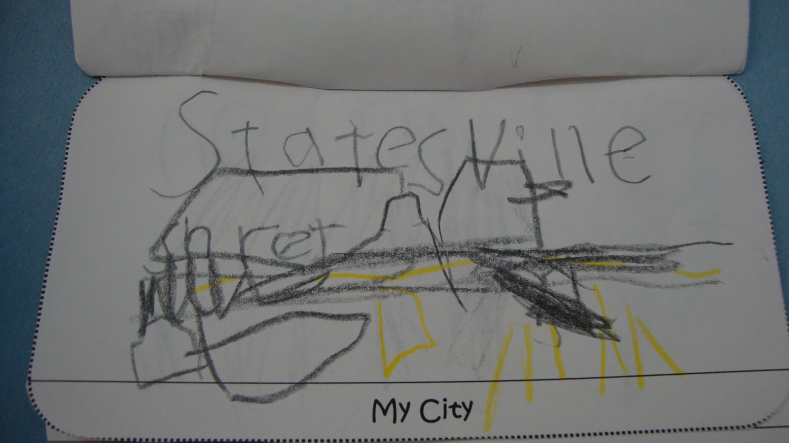 the children were given the option to draw a street map or to draw three places that they enjoy visitng in our city statesville