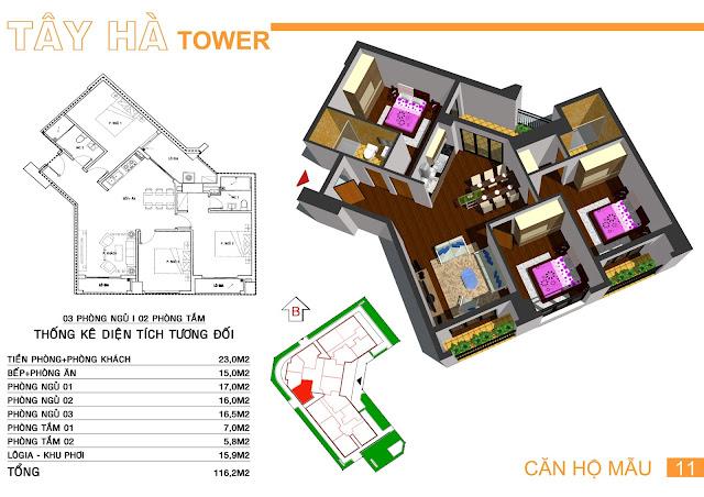 Căn số 11 chung cư Tây Hà Tower