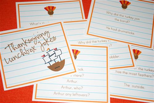 Short Printable Thanksgiving Jokes For Kids