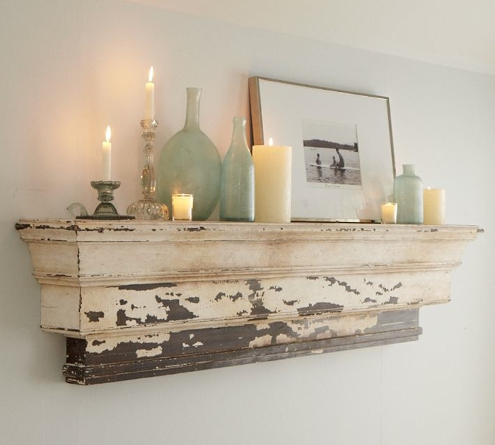 Pottery Barn Mantel Shelf