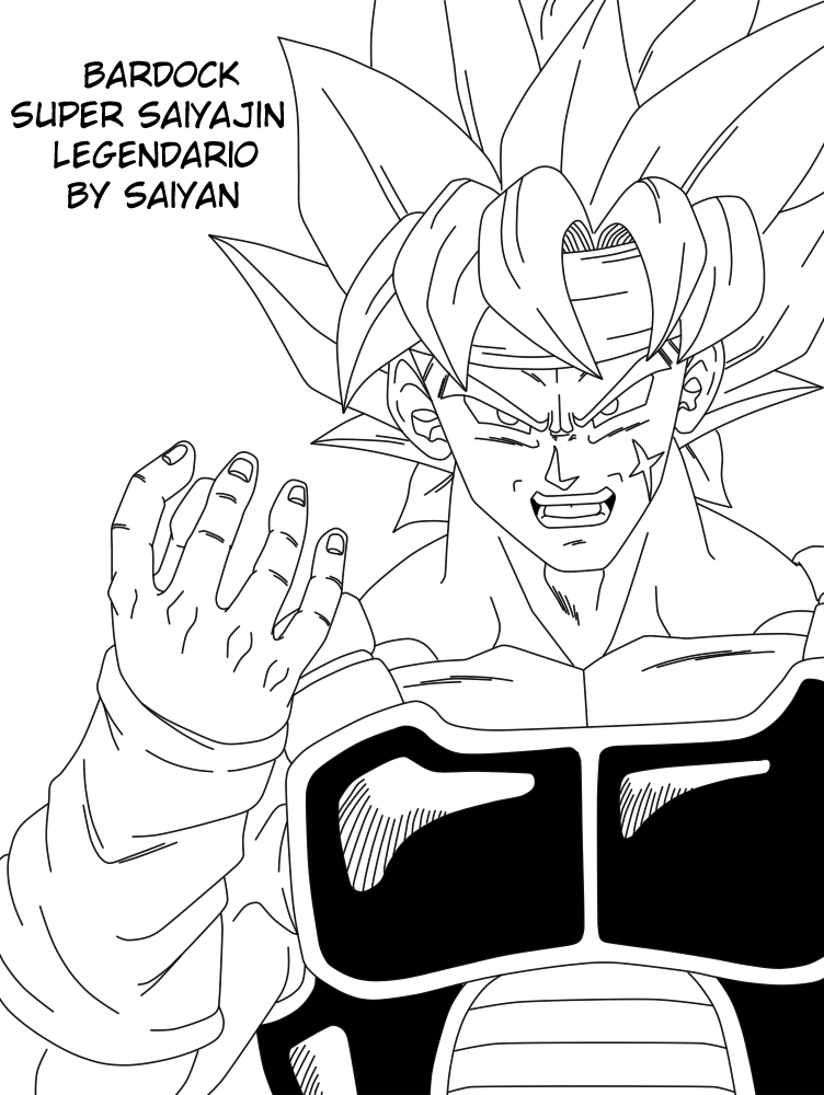 Dragon Ball: El retorno de los enemigos: Nuevo Lineart - Bardock ...