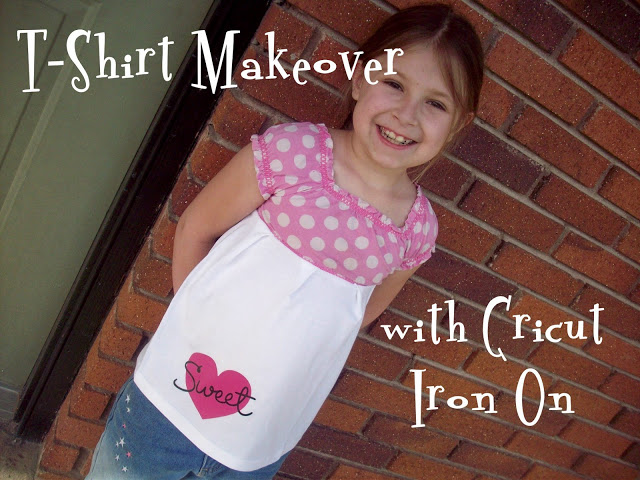 TShirt Makeover with Cricut Iron On Vinyl
