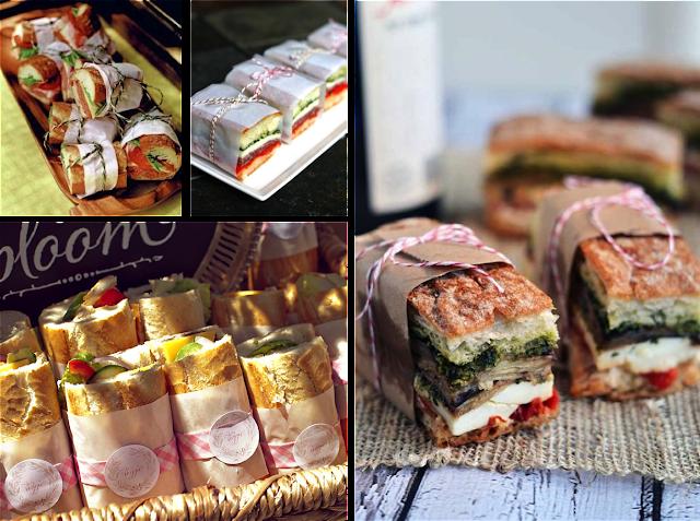 Papeles para envolver sandwiches
