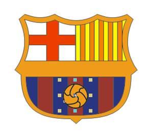 Tempatkan di atasnya logo Barcelona