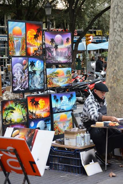 La Rambla Barcelona Paintings