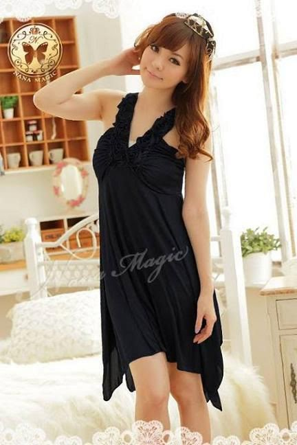 Baju Tidur Terusan SL845 Black