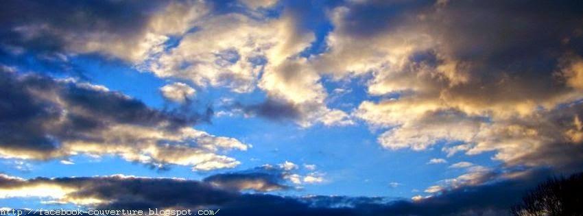Jolie couverture facebook nuages