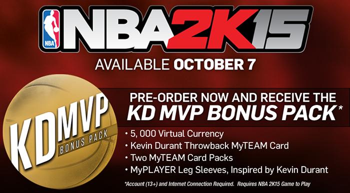 NBA 2K15 Pre-order Bonus