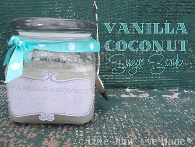 Homemade Coconut Vanilla Sugar Scrub