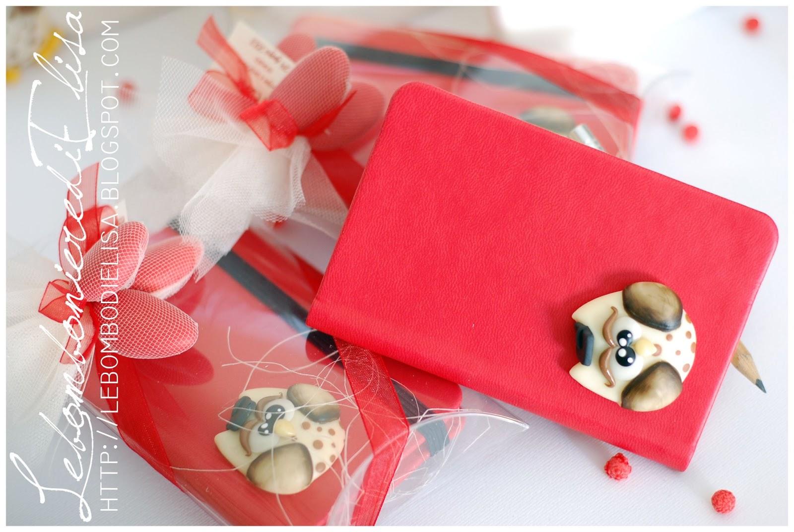 NOVITÀ  Collezione agendine laurea con applicazione gufo flat. La bomboniera  è venduta completa di scatola 5c2f22a43398