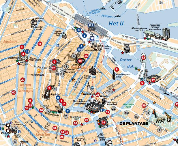 Mapa Turístico de Amsterdã