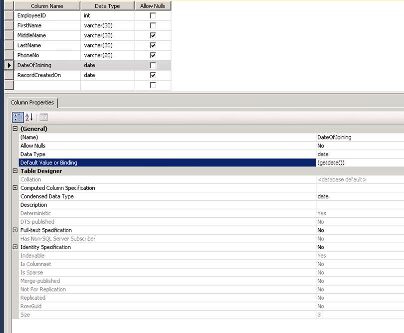 The sql post adding default value for a column in sql server - Alter table add column not null ...