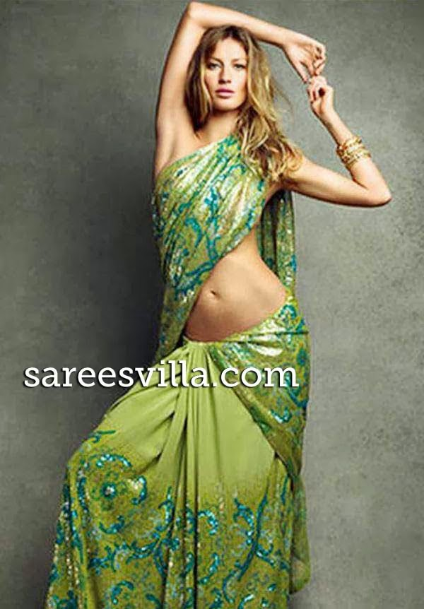 Giselle Bundchen in saree