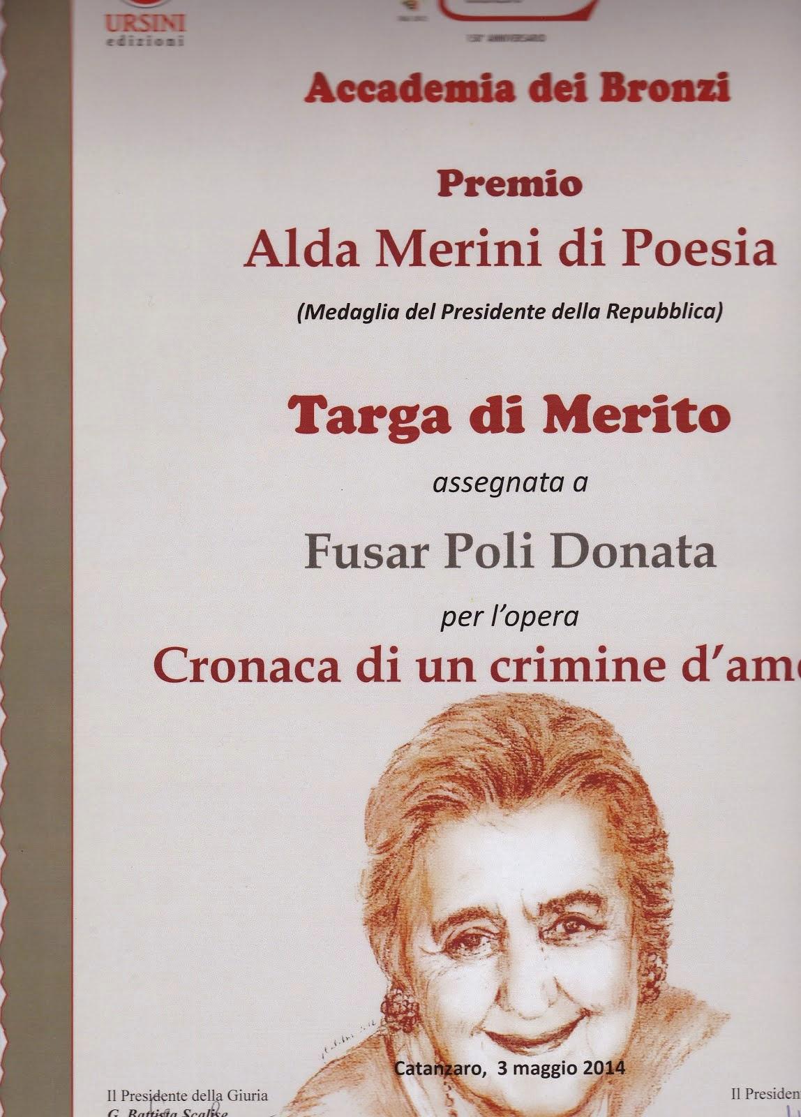 Premio di Poesia Alda Merini -2014-  Accademia dei Bronzi - Catanzaro