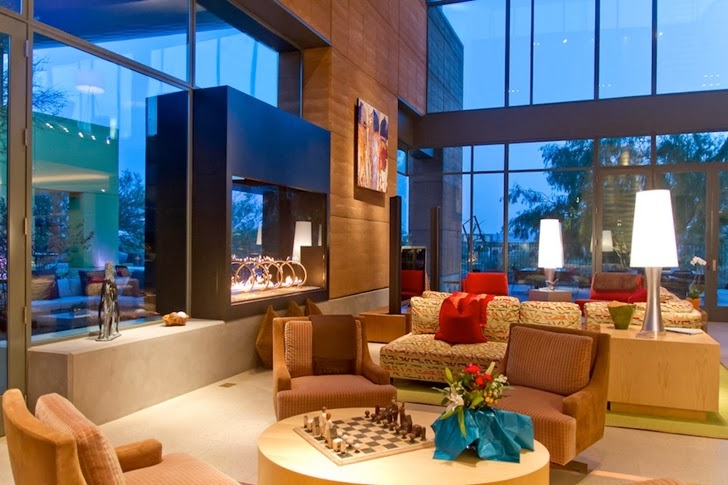 Living room in Multimillion modern dream home in Las Vegas