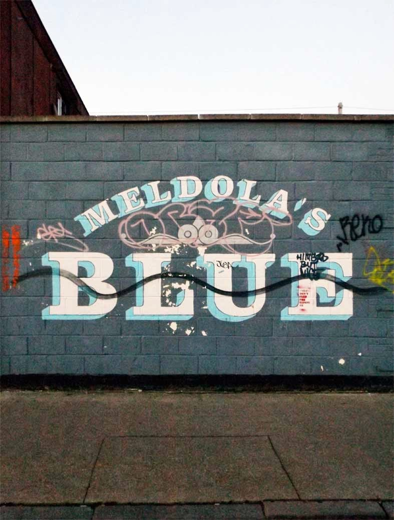 meldolas blue painting hackney wick london