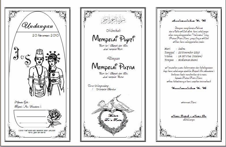 undangan pernikahan sederhana contoh undangan pernikahan dalam bahasa ...