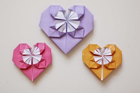 paper heart origami