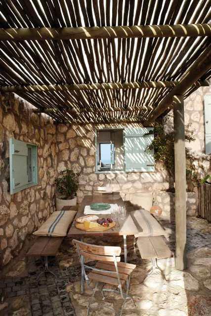techo cañizo terraza