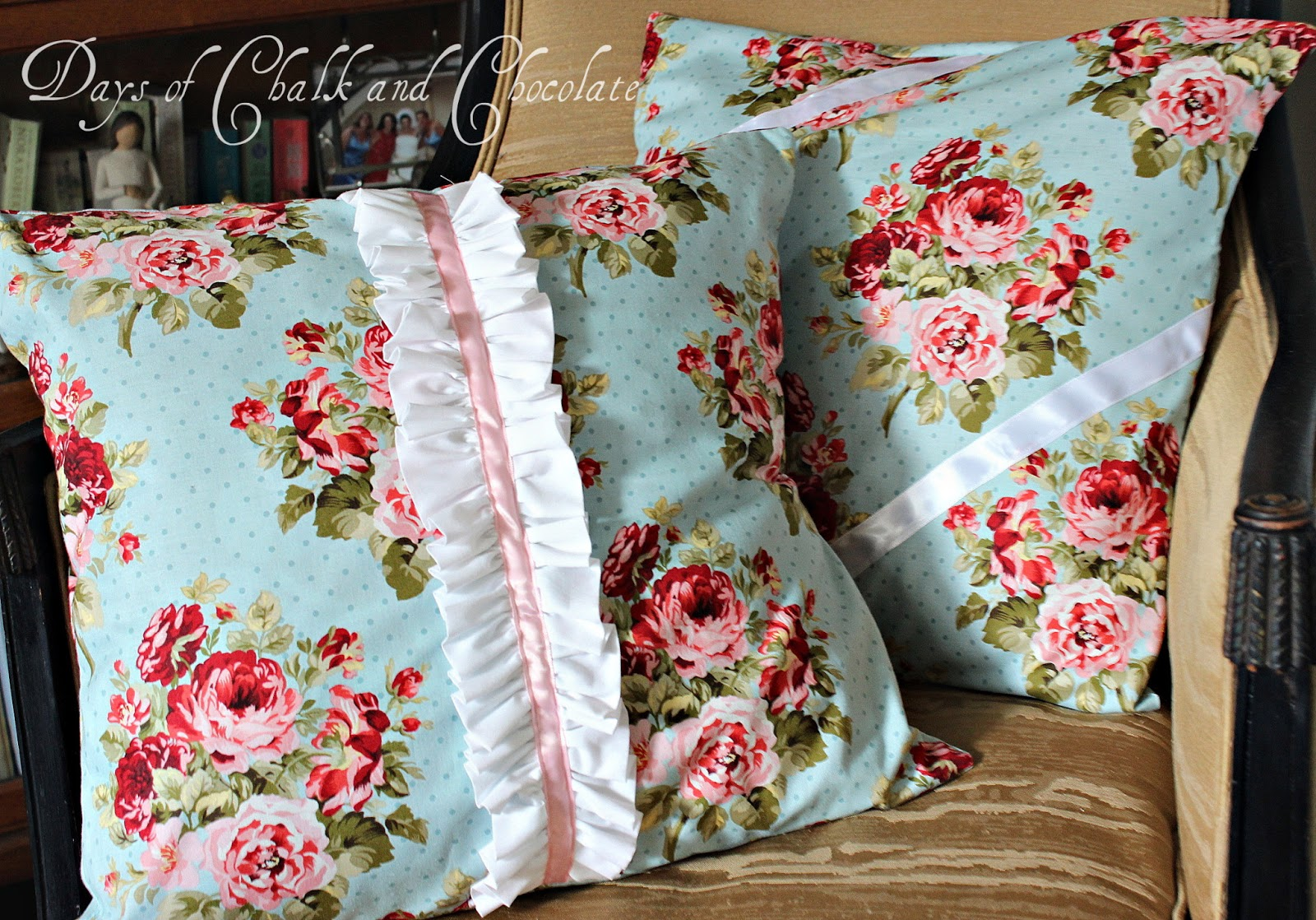 Shabby Chic Pillows (Simple Sewing) Days of Chalk and Chocolate