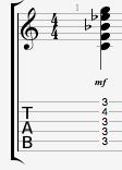 Cmin11 guitar chord