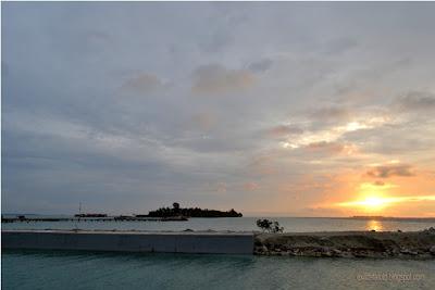 suasana pagi di Pulau Tidung