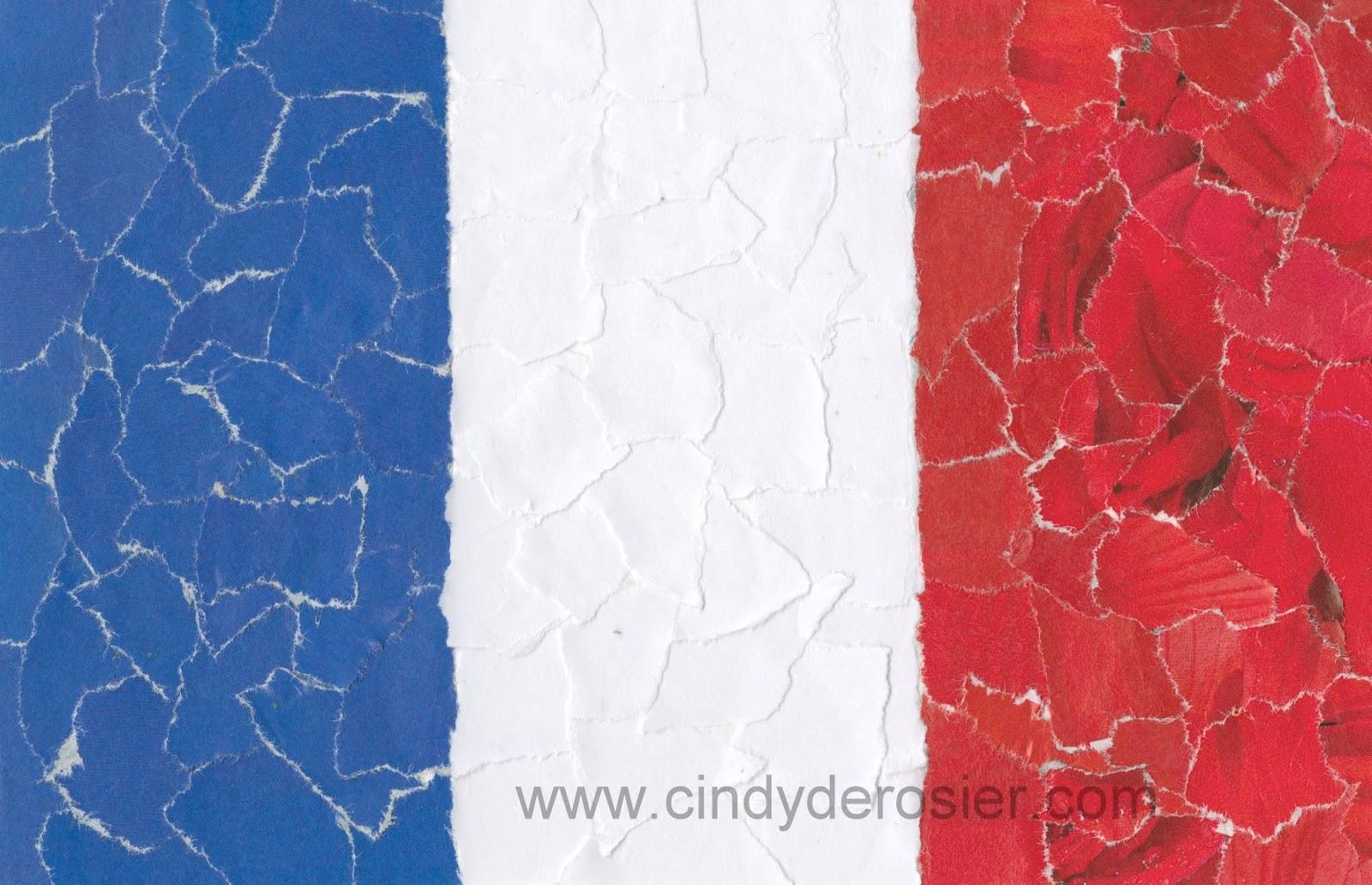 cindy derosier my creative life french tricolor mosaic