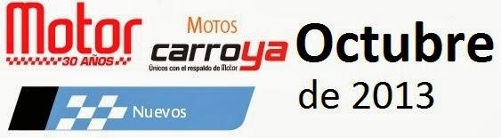 Precios Revista Motor Octubre noviembre de 2013 precios motos Nuevas