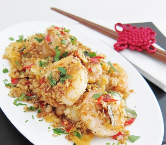 Fragrant Oatmeal Prawns from Nomsies Kitchen
