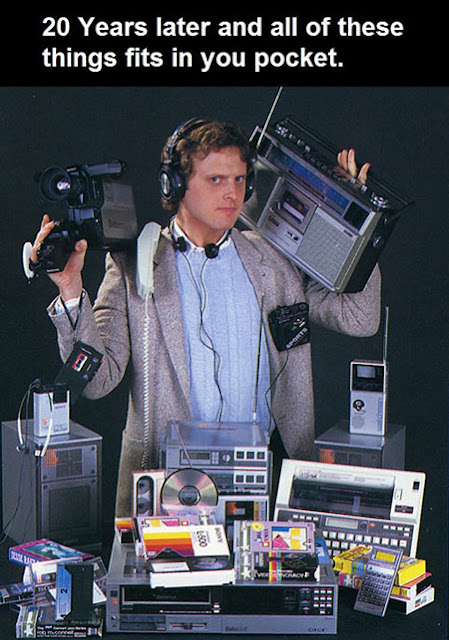 20 years later all this fits in your pocket